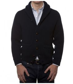 Navy Iconic Four Ply Cashmere Shawl Collar Cardigan Luxury Ties, Shawl Collar Cardigan, Cashmere Shawl, Cool Sweaters, Winter Style, Put On, Drake, Knitwear, Winter Fashion