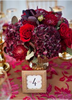 Dark purple wedding centerpieces dark purple wedding color ideas for fall winter weddings dark purple wedding Purple Wedding Centerpieces, Floral Centerpieces, Wedding Bouquets, Flower Arrangements, Wedding Flowers, Wedding Decorations, Dark Purple Wedding, Burgundy Wedding, Red Wedding