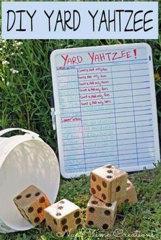 Yard Yahtzee.  A fun summer game.