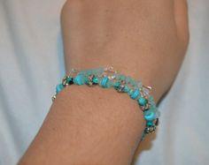 Shiva blue beaded bracelet