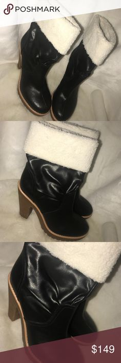 "🆕Marc Jacobs heeled Sherpa trim booties Super cute black heeled Sherpa trim booties. Never worn. Size 38. 4"" heel.6.5"" total shaft height from the back of the heel. Marc by Marc Jacobs Shoes Ankle Boots & Booties"