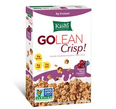 Package shot for Kashi® GOLEAN Crisp!™ Toasted Berry Crumble Cereal