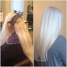 Lifted With Redken Flashlift 10 Vol On Scalp Platinum Blonde Hair Colorblonde