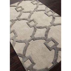City Collection Regency Rug in Antique White & Charcoal Slate  Over scaled sharp geometrics characterize this striking contemporary range of hand tufted rug