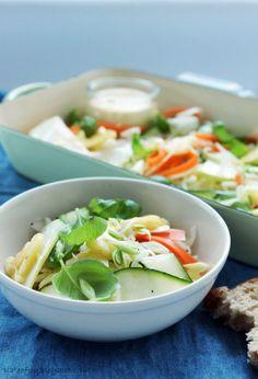 Plate of Joy: Niesamowita surówka! Salad Plates, Salad Dressing, Amazing Salad, Side Dishes, Soup, Dressings, Ethnic Recipes, Nice, Blog