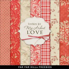 Far Far Hill - Free database of digital illustrations and papers: New Freebies Kit -My Ardent Love