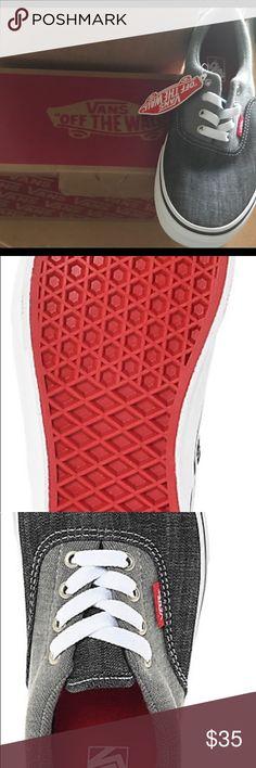 Vans Boys Era Racing Skate shoes Vans Boys Era Racing Red, True White, Jersey & Denim Skate Shoes Vans Shoes Sneakers