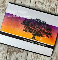 #stampinup new stamp set #rootedinnature from the #annual2018-2019catalog featuring an #inkblended background with new ink colors #gorgeousgrape, #poppyparade, and #melonmelody.