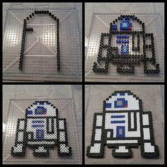 R2D2 Star Wars perler beads by  gomezjames