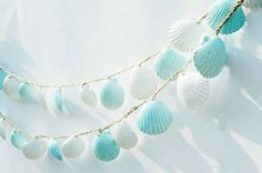 String together some seashells.