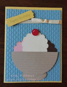 Indiana Inker - Ice Cream Sundae Card  Stampin' Up!  - Punch Art