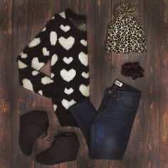 This outfit is on point Teenage Years, What's Trending, Wild Child, Winter Looks, Ootd, Fashion Outfits, Heart, How To Wear, Closet
