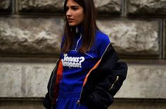 @patriciamanfield shot in front of @hermes  Now live on www.ssandeparis.tumblr.com  Snapchat 👻 jumbobang  #ssande by #AntoineDeAlmeida  #Paris #Women #ReadyToWear #RTW #FW16 #FashionWeek #PFW #ParisFashionWeek #France #French #Street #Style #Streetstyle #Fashion #StreetFashion #Mode #Moda #NoFilter #patriciamanfield #hermes