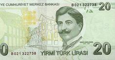 Matawang Turkey (20 Türk Lirası).                     Nama Mata Wang:    Turkish Lira      Kod ISO 4217:    TRY      Ibu negara:    Ankara...