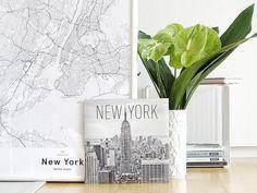 Auf der Mammilade n-Seite des Lebens   Personal Lifestyle Blog   5 Lieblinge und Inspirationen der Woche   New York Kalender   New York Karte als Poster von Mujumaps   Anthurien Bloomy Days   Panton Wire Rack Montana