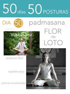ૐ YOGA ૐ ૐ Padmasana ૐ  50 días 50 posturas. Día 50. Flor de Loto.