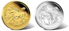 Australian Lunar 2014 Year of the Horse Proof Coins | The Perth Mint of Australia continues its popular Lunar Series II program with the release of its 2014 Year of the Horse Gold and Silver Proof Coins.