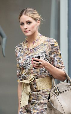 Loving the Chloe bag paired with the Missoni. Genius!