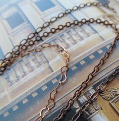 Three Tier Tangled copper Necklace Heart Chain by stevenssteampunk
