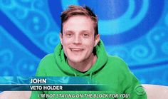 """10 Reasons Why John Is The Best Houseguest On """"Big Brother Big Brother Tv Show, Best Dentist, Me Tv, He Wants, Music Tv, Reality Tv, Favorite Tv Shows, Mac, Good Things"""
