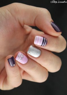 lilac skittlette inspired by @lapaillettefrondeuse #cocosnailss #nailart