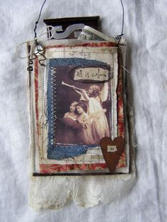 More past works of art: All is calm pocket ornament