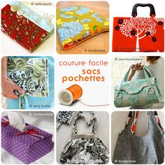 Tutos couture facile : sacs, pochettes et boite à mouchoirs en tissu | kilucru Amy Butler, Couture Sewing, Western Wear, Bag Making, Upcycle, How To Make, How To Wear, Textiles, Knitting