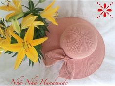 Cách móc vành nón nơ nhà Nhã Nhã!!!! - YouTube Crochet Summer Hats, Crochet Hats, Sombrero A Crochet, Crotchet Patterns, Baby Hats, Cowl, Make It Yourself, Embroidery, Knitting