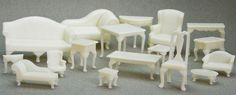 3D printed historical doll house furniture :)