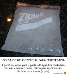 bolsa de gelo fisioterapia diy