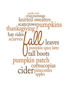 Simply Klassic Home: My Favorite Things About Fall: A Printable