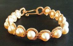 Coiled Rings Bracelet #AmazingCoiledJewelry #wirejewelry #Diy