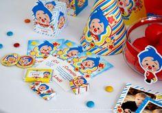 Kits imprimibles Plim Plim Ideas Para Fiestas, Fiesta Party, Some Ideas, Birthday Candles, Diy, Party Ideas, First Birthdays, Celebration, Clowns