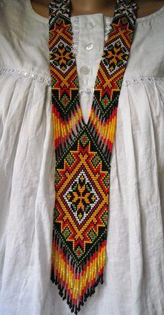 Ukrainian folk Beaded Jewellery - Gerdan / Украинские народные бисерные Герданы