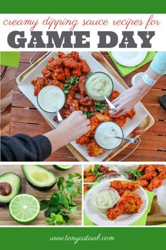 These three creamy dipping sauce recipes are the perfect pairing for wings at your game day party. Duck Recipes, Asian Recipes, New Recipes, Appetizer Recipes, Appetizers, Tailgating Recipes, Game Day Food, Popular Recipes