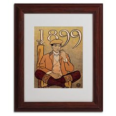 Golf Calendar 1899 by Edward Penfield Matted Framed Painting Print