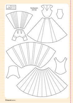 Template for paper dress: