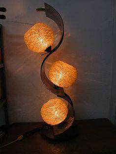 "Vintage Lucite Plastic Acrylic Modern Space Atomic Spaghetti Lamp Table Floor | eBay  38"" Tall; 12 "" diameter."