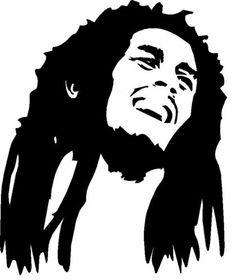 "Bob Marley Vinyl Decal Car Sticker 5"" x 6"" 