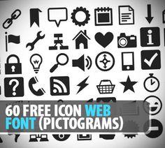 60 Free Icon Web Font (Pictograms)