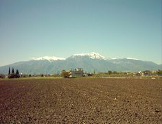 Mount Olympus from Peristasi, Pieria, Northern Greece. April 2013