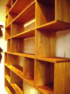Kauri Pine Bookshelves