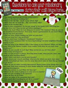 Purpose Driven Motherhood: Fun list of questions to ask your missionary during their Christmas call or Skype!