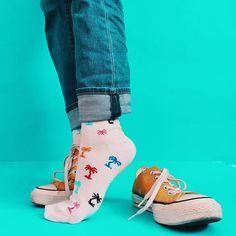 Tip-toe into a colorful weekend! I love these summery socks!  #HappySocks #HappinessEverywhere Happy Socks, Hosiery, Toe, Colorful, Instagram, Fashion, Socks, Moda, Fashion Styles