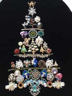 My jewelry tree finally completed on 03/16/17.  Made with special jewelry!
