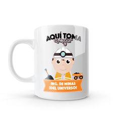 Mug - Aquí toma el mejor ingeniero de minas del universo, encuentra este producto en nuestra tienda online y personalízalo con un nombre o mensaje. Snoopy, Mugs, Tableware, Fictional Characters, Engineer, Store, Universe, Messages, Creativity