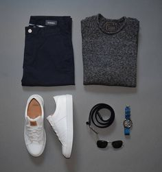 Outfit grid from @StylesofMan, featuring the Royale sneaker in Blanco - $159. #beoneofthegreats #greatsbrand #greats