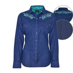 Wrangler Womens Louisa Shirt $109.95 If all out patterns aren't your thing but you like some detail this shirt is for you!