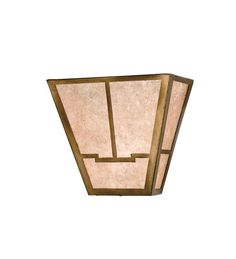 "Meyda Tiffany 23904 13"" Wide 2 Light Wall Sconce with Mica Glass Shade Antique Copper Indoor Lighting Wall Sconces Up Lighting"