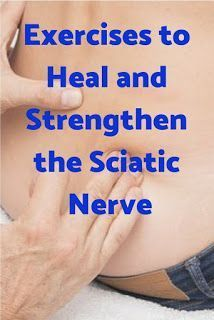 Healthy Food & Life: Exercises to Strengthen the Sciatic Nerve A sciatic nerve injury and sciatica causes pain from the lower back to the foot. These exercises can help heal the injury and reduce sciatica. Sciatic Nerve Injury, Sciatic Nerve Exercises, Sciatic Nerve Relief, Hip Pain Relief, Sciatic Pain, Back Pain Exercises, Core Exercises, Fitness Exercises, Hip Strengthening Exercises